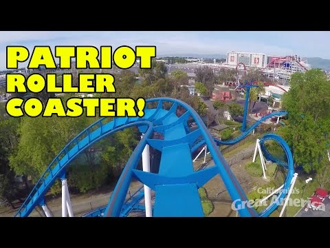 Patriot New Roller Coaster Front Seat POV Californias Great America #rollercoaster #rollercoasterpov