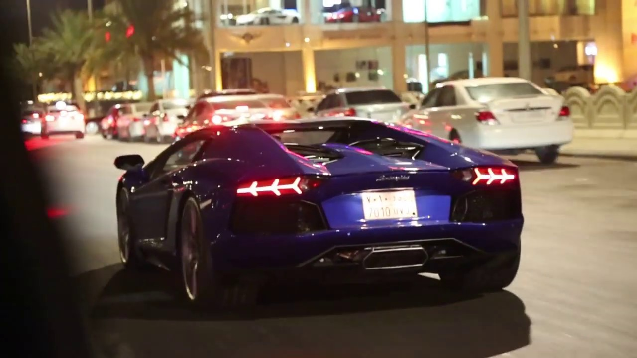 لمبرجيني افنتادور في تحليه 2016 Lamborghini Aventador In Jeddah Youtube