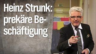 Experte für prekäre Beschäftigung Heinz Strunk