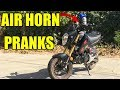 Boat Air Horn On A Motorcycle