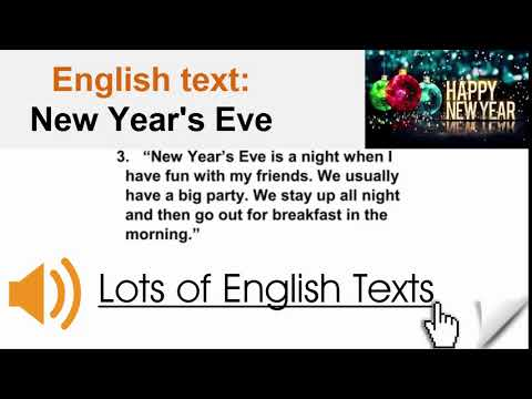 English Text - New Year's Eve  | Lots Of English Texts With Audio
