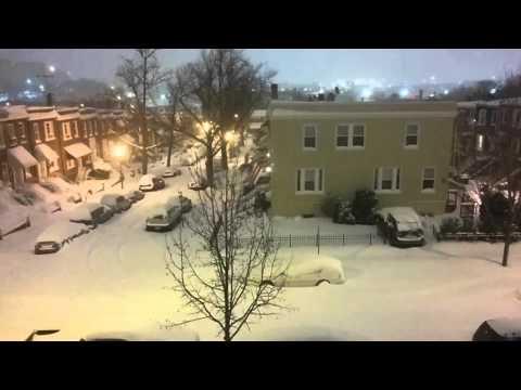 Edgewood, Washington, DC, time lapse of snowstorm