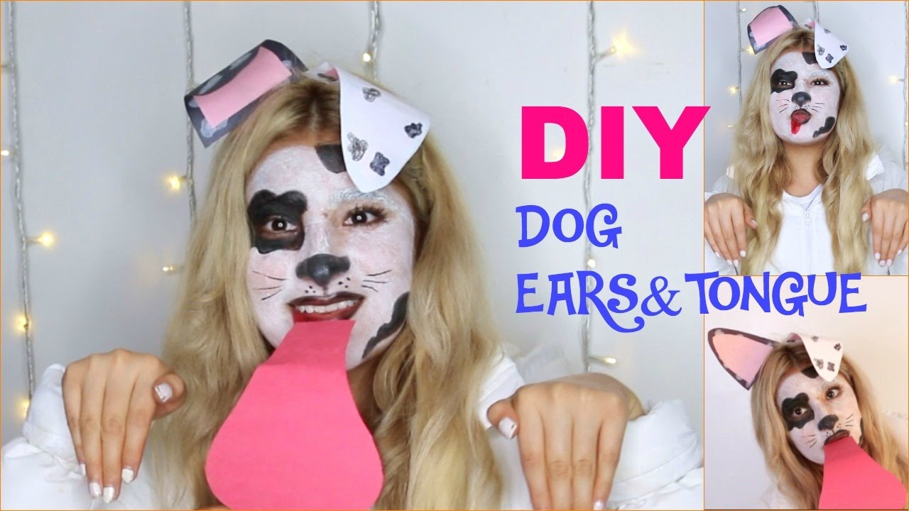 HALLOWEEN DALMATIAN DOG TUTORIAL + DIY DOG EARS AND ...