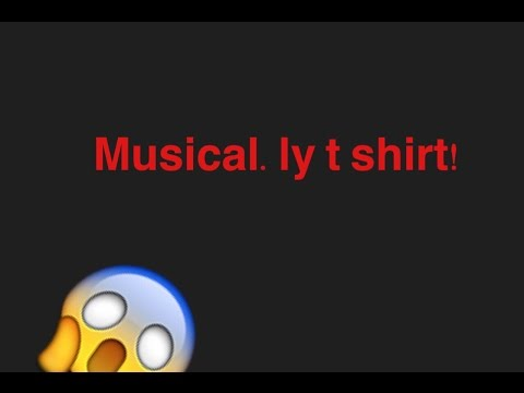 Unboxing my musical.ly t shirt!