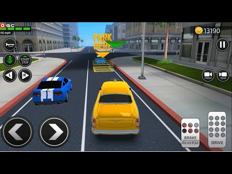 Car Driving Academy 2018 3D / Taxi Car / Car Parking games / Android Gameplay FHD #8