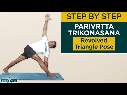 Parivrtta Trikonasana (Revolved Triangle Pose) Benefits, How to Do by Yogi RiteshSiddhi Yoga