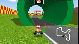 Mario Kart 64 N64 - Beating Mario Raceway Staff Ghost
