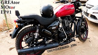 Royal Enfield ThunderBird 350x ABS First Impressions, Features And Accessories In Hindi.