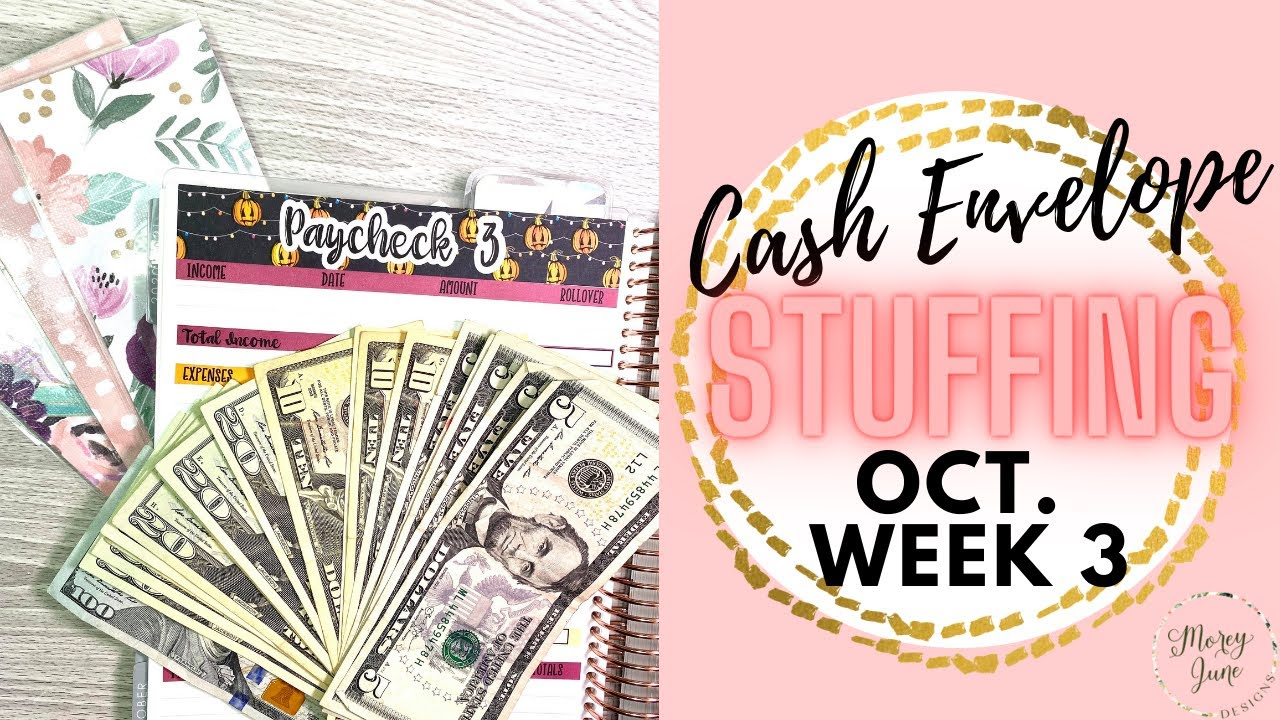 Paycheck Budgeting and Cash Envelope Stuffing  || Week 3 - October 2020