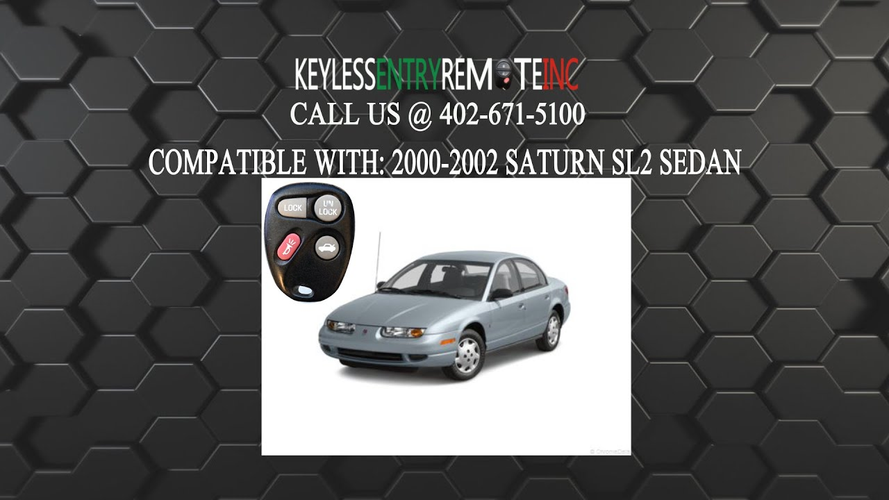 How to replace saturn sl2 sedan key fob battery 2000 2002 youtube how to replace saturn sl2 sedan key fob battery 2000 2002 vanachro Image collections