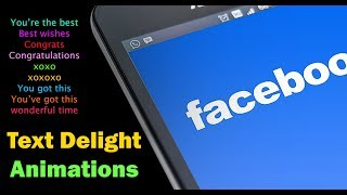 Facebook Text Animations or Text Effects Keywords | Text Delight Animations