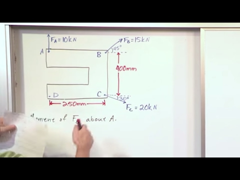 Lesson 4 - Moment Of A Force   Scalar Calculation, Part 4 (Engineering Mechanics)
