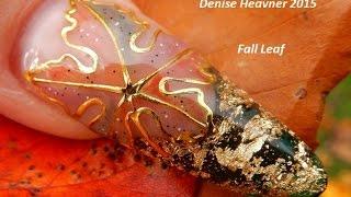 Fall Leaf Nails -------------------GEL