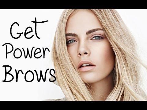 Cara Delevingne Power Brows Tutorial - YouTube