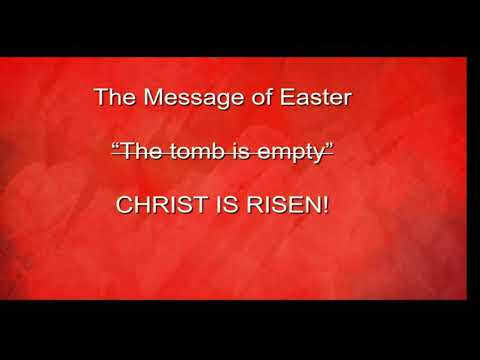 Easter Sunday, April 21, 2019