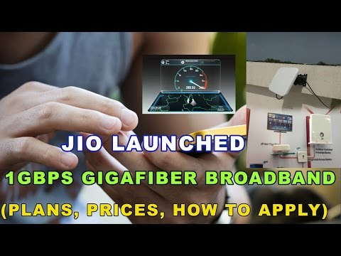Reliance Jio Giga Fiber Broadband Internet plans, offers And How to apply