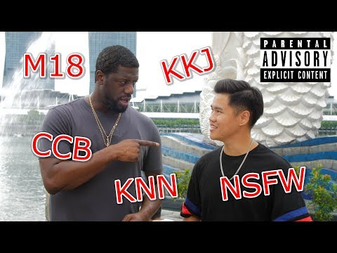 An American using Singapore Vulgarities on locals (Prank)|18+ NSFW
