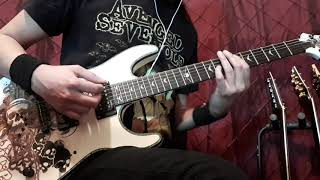 Trivium - Wake (The End is Nigh). Guitar Cover (With Both Solo's) HD