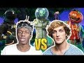 LOGAN PAUL PLAYS FORNITE WITH YOUTUBERS WHO WILL WIN?