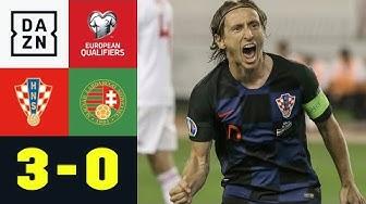 Modric ebnet den Weg, Kroatien bleibt an der Spitze: Kroatien - Ungarn 3:0 | EM-Quali | DAZN