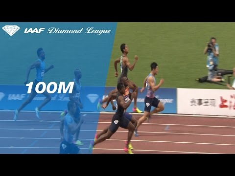 Bingtian Su wins the Men's 100m - IAAF Diamond League Shanghai 2017