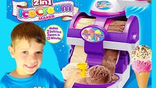 Ice Cream Maker TOY FAIL The Real Two in One Ice Cream Maker Cra-Z-Art Video