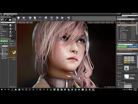 Unreal Engine 4.11: Realtime Lightning from final fantasy XIII