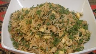 Spinach Mushroom and Egg Fried Rice