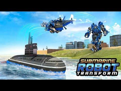 Download Blue Bumblebee Submarine Robot Transform War: Robot Hero Games - Android Gameplay