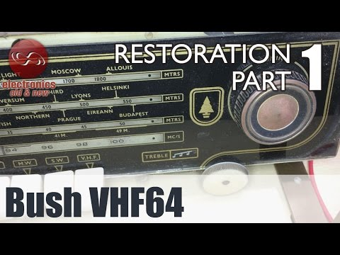 Bush VHF64 tube radio restoration - Part 1. A first look at this British valve radio.