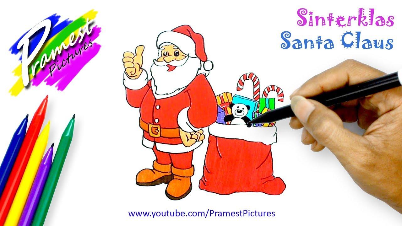 Sinterklas Hadiah Natal Menggambar Dan Mewarnai Gambar Kartun