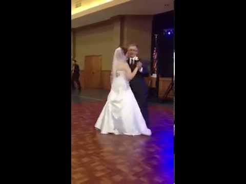 Father And Daughter Do Wedding Dance To My Girl Temptations Style