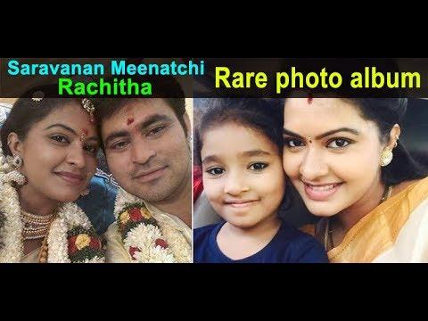 Saravanan Meenatchi Actress - Rachitha Family Rare Photos