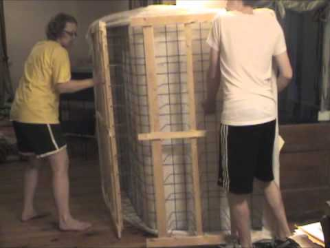 How To Fold Your Box Spring To Fit It Through Tight Places