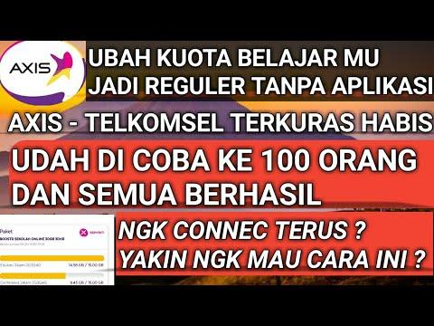 Download AKHIRNYA BISA! UBAH KUOTA BELAJAR JADI REGULER TANPA APLIKASI .