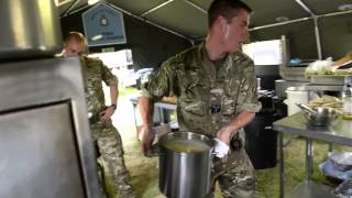 RAF Reserves Chef Training at Worthy Down