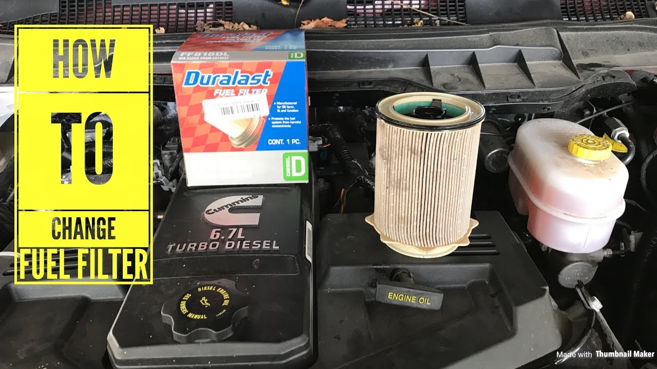 medium resolution of 2017 cummins 6 7 fuel filter change how to video