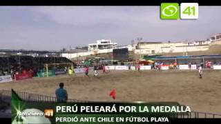 SELECCIÓN PERUANA DE FÚTBOL PLAYA PERDIÓ CON CHILE EN JUEGOS BOLIVARIANOS 08 DICIEMBRE
