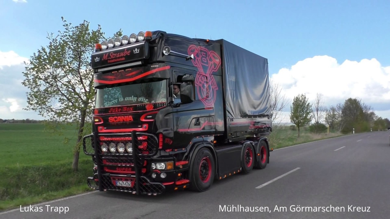 Fabuleux Showtruck M.Straube - Scania R620 V8 - Soundcheck bestanden - YouTube MA59