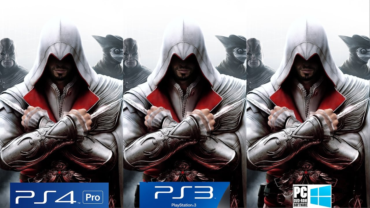 Assassin S Creed 2 Brotherhood Revelations Ps4 Pro Vs Ps3 Vs Pc