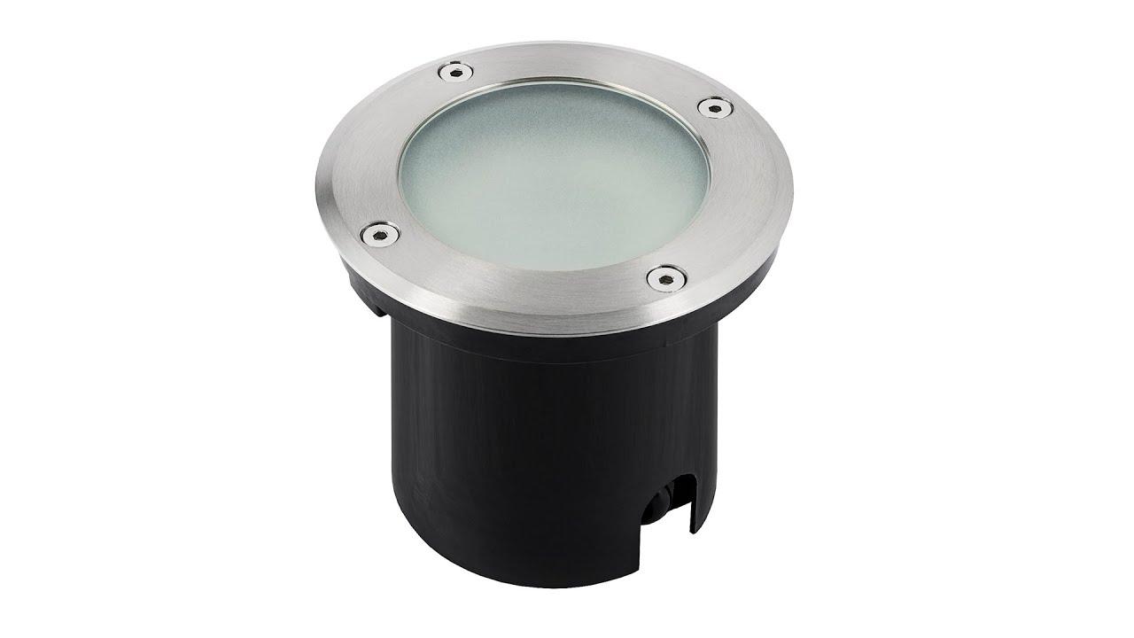 LED Bodenstrahler Rund Gartenleuchte GU10 Außenleuchte ohne Leuchtmittel IP67