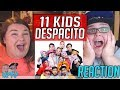 Despacito Cover by GENHALILINTAR Mom&11kids (ALL AGES LYRICS) REACTION!! 🔥
