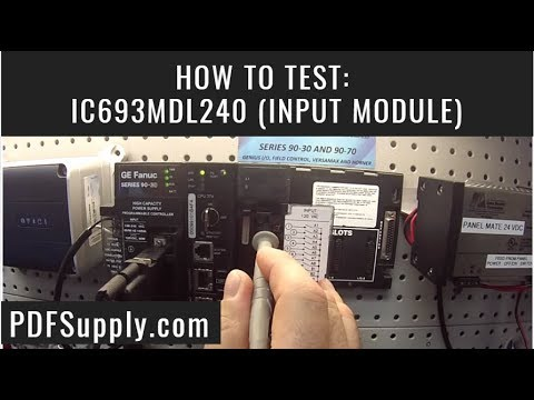 ic693mdl240 how to test plc training ge fanuc proficy programming ic693mdl240 how to test plc training ge fanuc proficy programming mdl240 input module