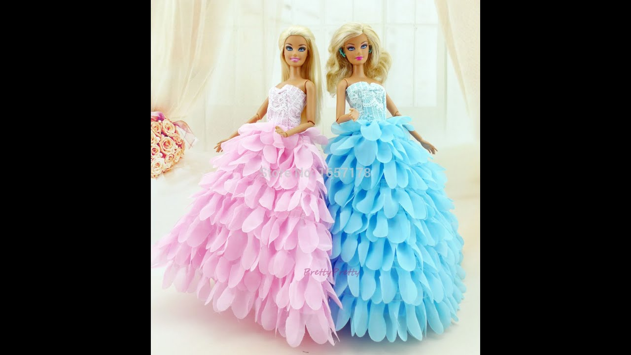 Barbie Wedding Day With Ken ,Wedding Dress, cake,ring - YouTube