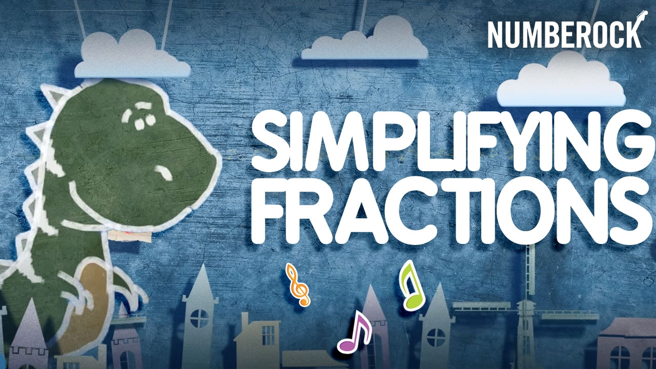 photograph relating to Simplifying Fractions Game Printable identified as Best Type Music: Simplifying Fractions through NUMBEROCK
