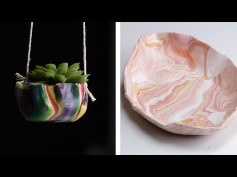 4 Mesmerizing Marbled Clay Projects