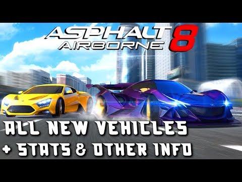 NEW KING?!? Asphalt 8: Spring 2018 Update - vehicle stats & other info