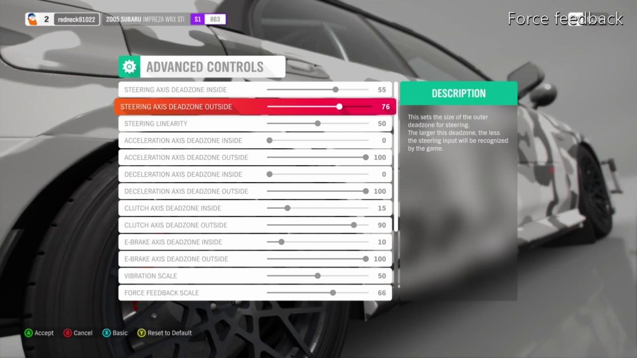 Forza Horizon 4: 458 Xbox One Wheel Settings