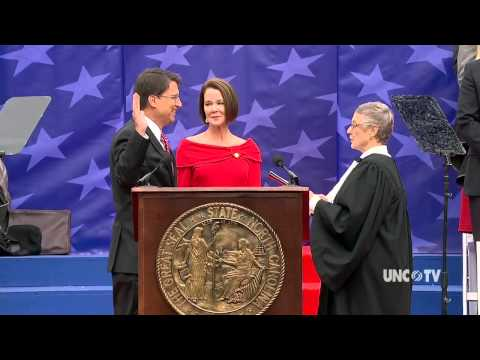 UNC-TV Coverage of NC Governor Pat McCrory's Inauguration on Jan 12, 2013