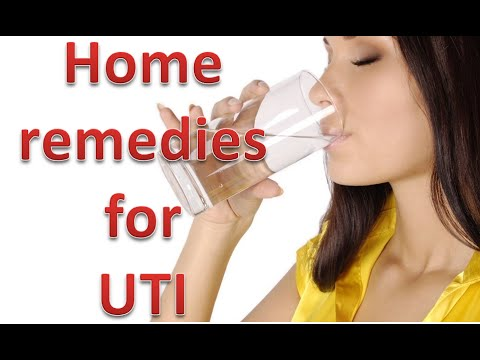 Home remedies for urinary tract infection or UTI (urine infection)